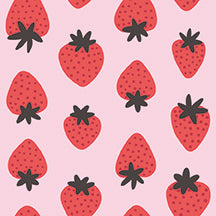 Paintbrush Studios Fruity Strawberry Red/Pink Fabric
