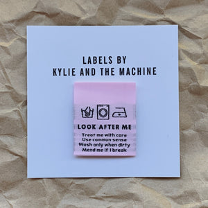 Woven Labels - Look After Me - Prickly Pear Fabrics