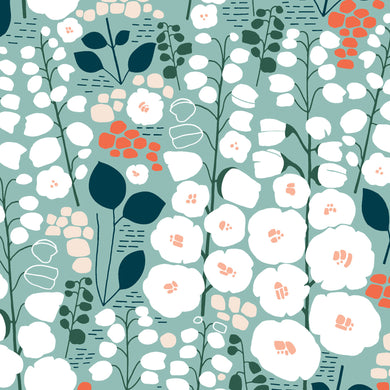 Stockbridge Green Cotton - Prickly Pear Fabrics