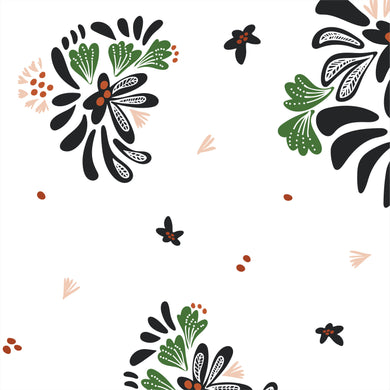 Bouquet Toss White - Fanciful - Cloud9 Fabrics - Organic Cotton - Poplin Fabric