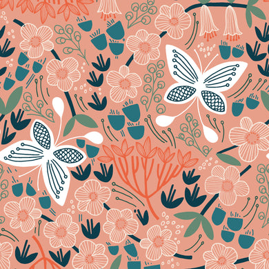 Cloud9 Fabrics Organic Stockbridge Alice Holt White Fabric