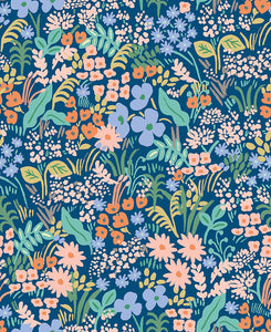 Rifle Paper Co. Meadow - Blue Canvas Fabric