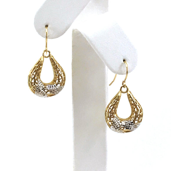 14K Gold Horseshoe Earrings