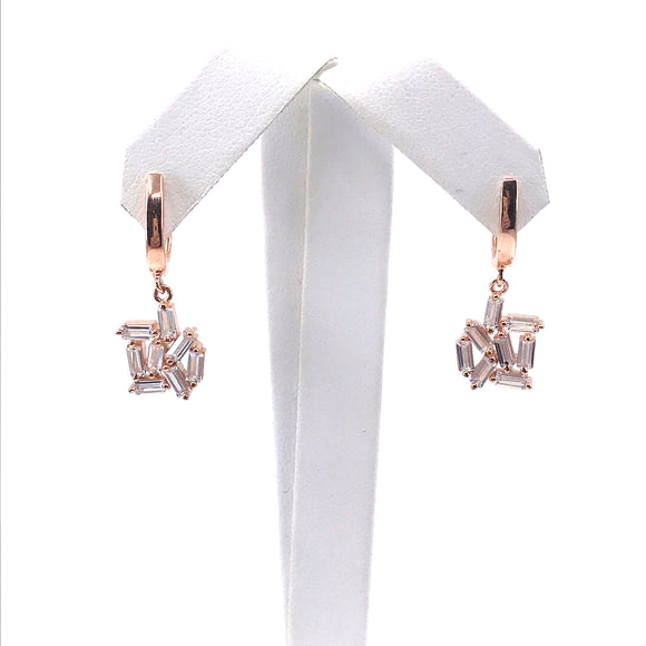Sterling Silver Rose Gold Plated Earrings