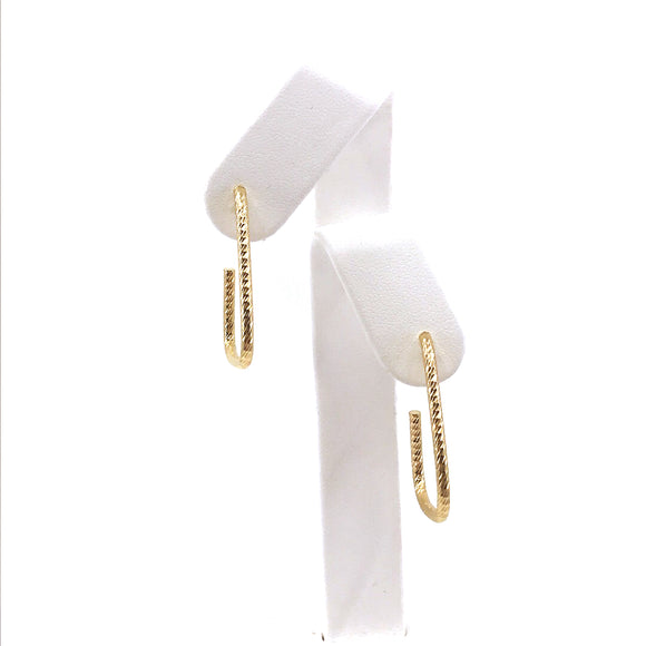14K Gold Hoop-Like Earrings