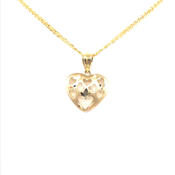 14K Gold Heart Pendant