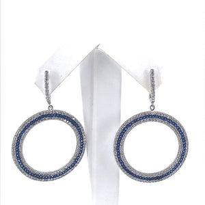 Sterling Silver Large Circle Earrings
