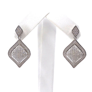 Sterling Silver Diamond-Shaped Earrings