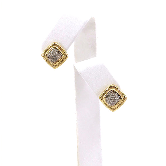 14K Gold and Diamond Stud Earring