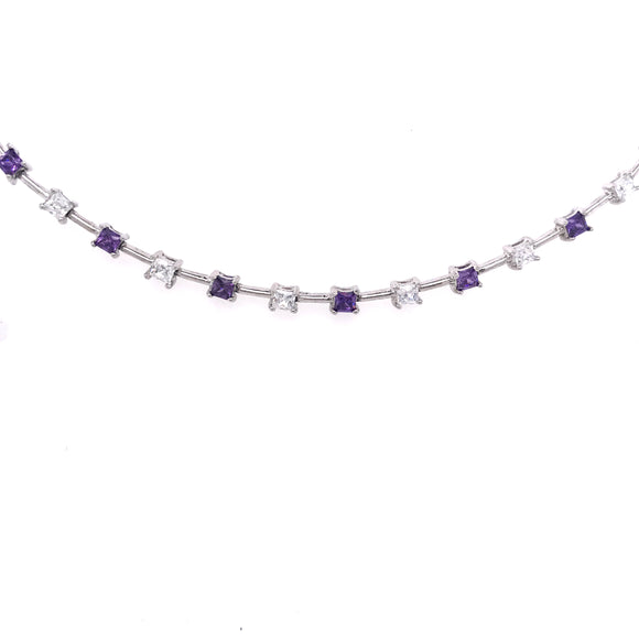 Sterling Silver Purple Bracelet