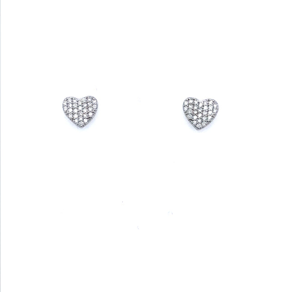 Sterling Silver Small Heart Studs