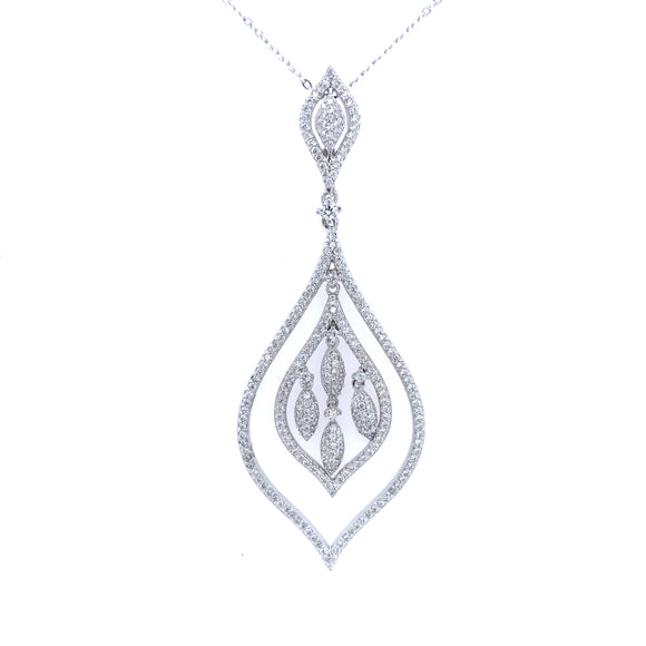 Sterling Silver Flame Pendant