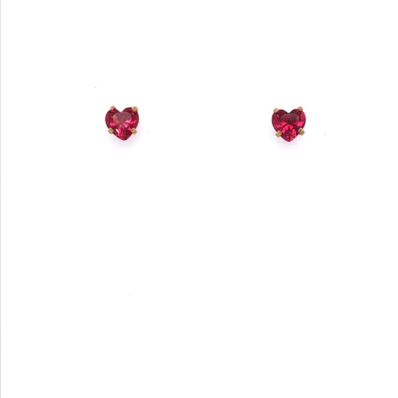 Surgical Steel Red Heart Studs