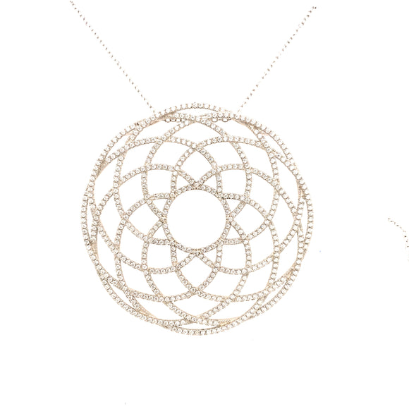 Sterling Silver Interlocking Circles Pendant