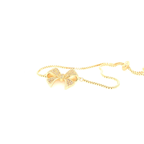 Large Goldplated Bow Bolo Bracelet