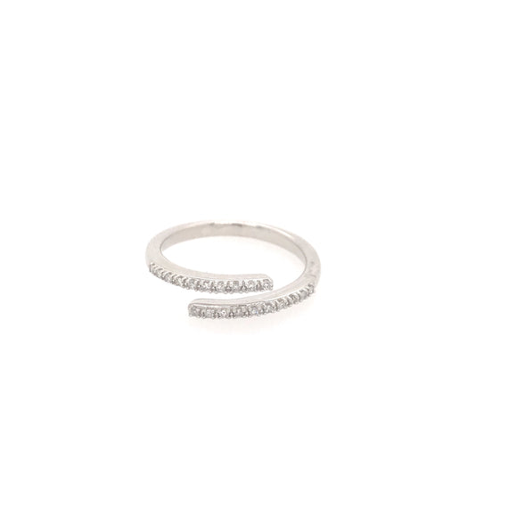 10k Overlapping Micropave Diamond Ring