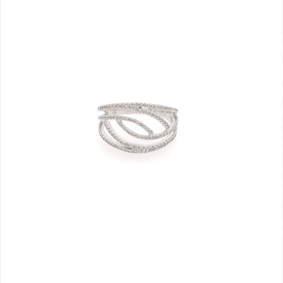 10k Micropave Diamond Design Ring
