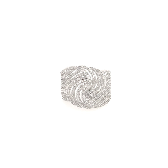 10k Micropave Diamond Ring