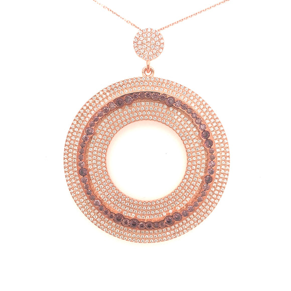 Sterling Silver Micropave Circle Pendant