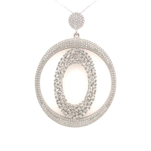 Sterling Silver Micropve Circular And Oval Pendant