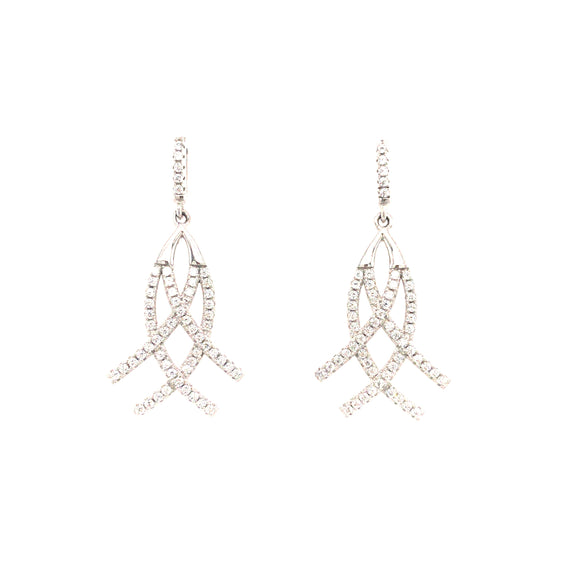 Sterling Silver Rounded Criss-Cross Earrings