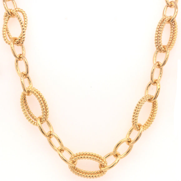 Sterling Silver Gold Plated Link Necklace