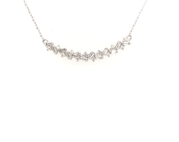 10k Baguette Bar Necklace