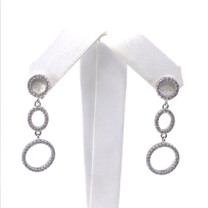 Sterling Silver Three Circle Earring