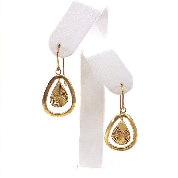 14K Gold Teardrop Earrings