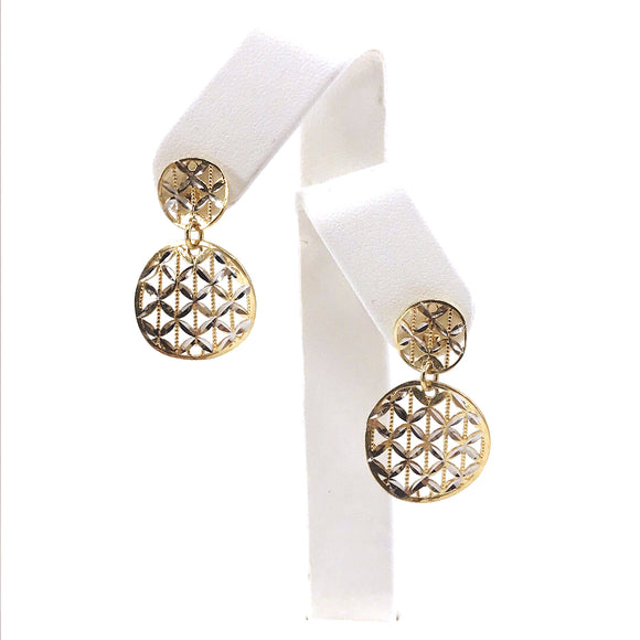 14K Gold Circle Earrings