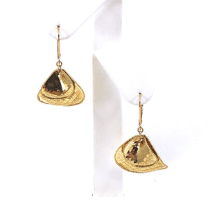 14k Double Shape Earring