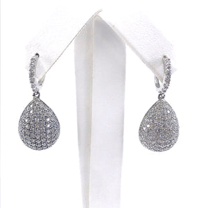 Sterling Silver 3D Teardrop Earrings