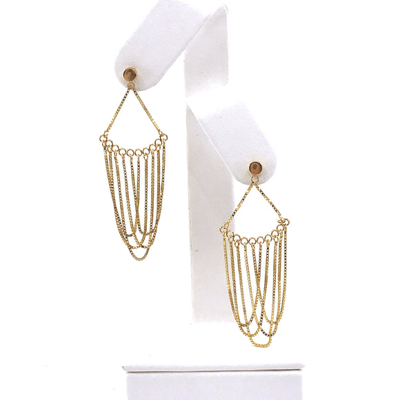 14K Gold Chain Earrings