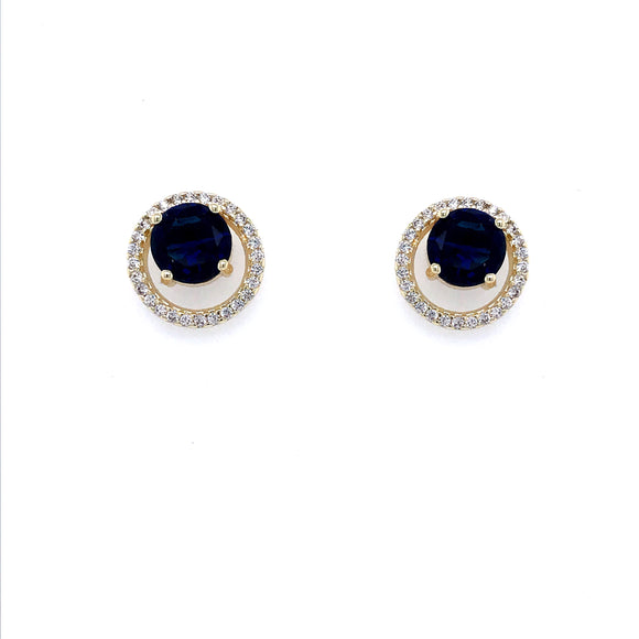 Surgical Steel Blue Stone Studs