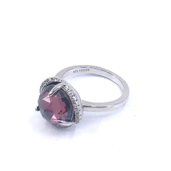 Sterling Silver Circle Stone Ring
