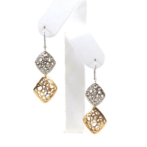 14K Gold Diamond-Shape Earrings