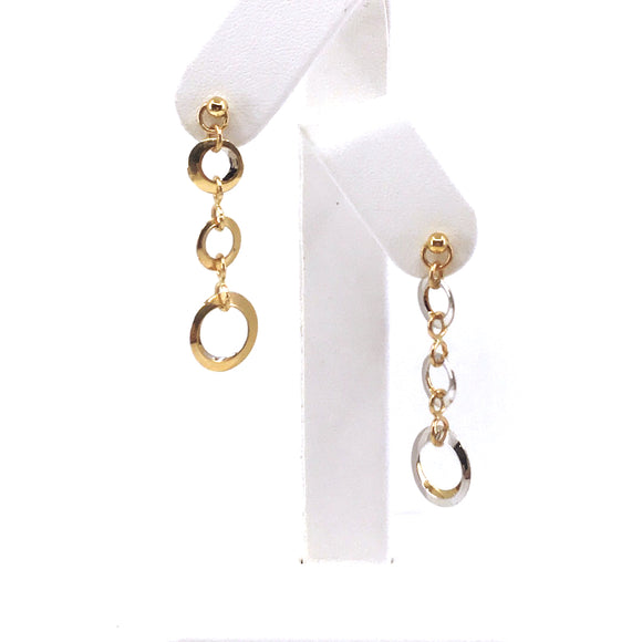 14K Gold Reverse-able Circle Earrings