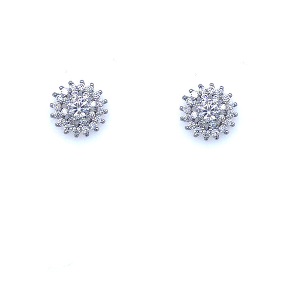 Sterling Silver Small Flower Studs