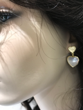Gold Plated Sterling Silver Double Heart Earring