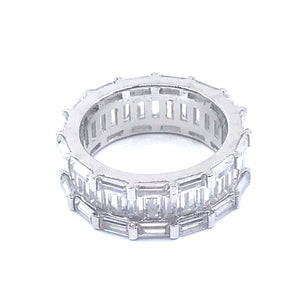 Sterling Silver Eternity Band