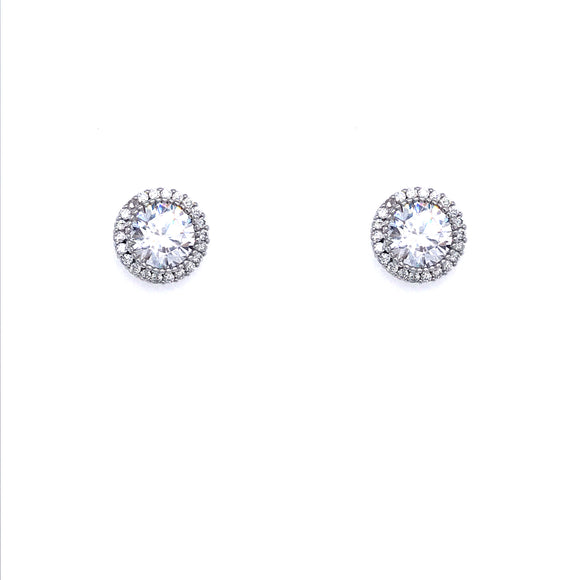 Sterling Silver Solitaire Studs