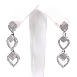 Sterling Silver Marquis-Shaped Earrings