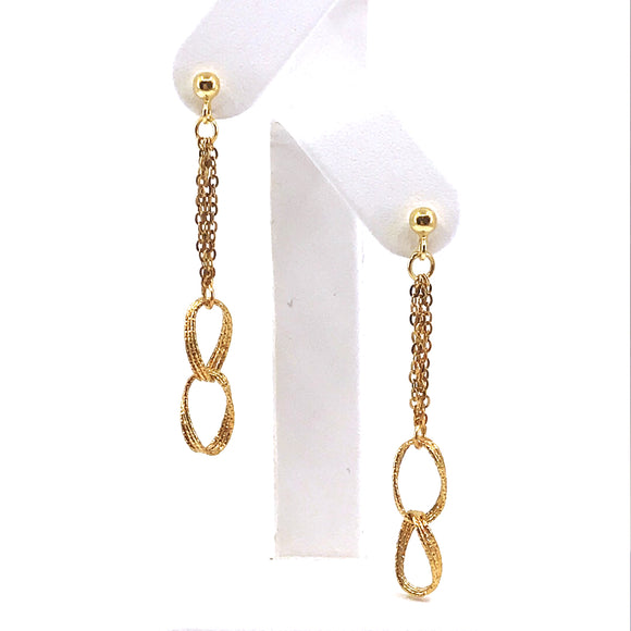 14K Gold Link Earrings