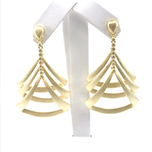 Sterling Silver Three Triangle Earrings