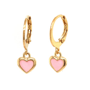 Surgical Steel Pink Heart Earrings