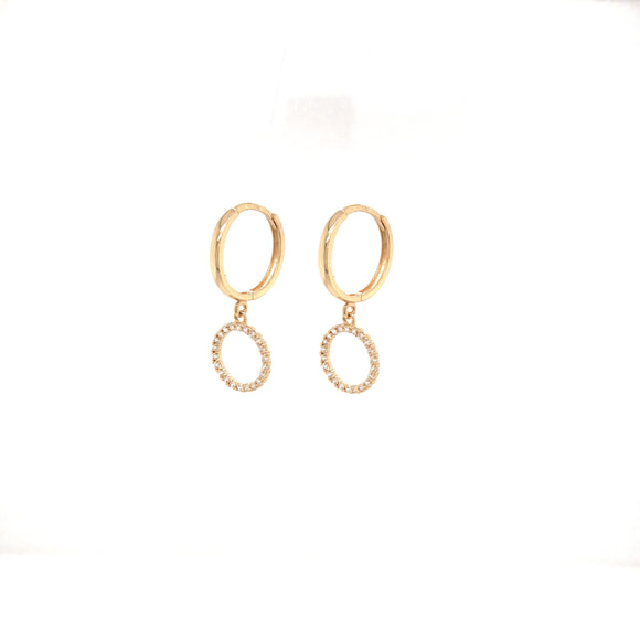 14k Small Circle Earrings