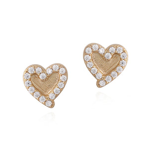 Surgical Steel Heart Stud Earrings