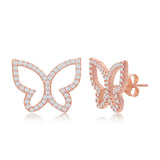 Sterling Silver Butterfly Stud Earring