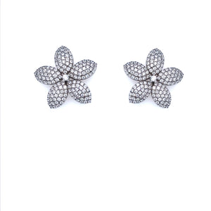 Sterling Silver Flower Studs