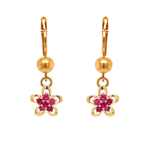 Surgical Steel Fuchsia Flower Earrings
